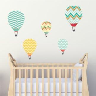 Αυτοκόλλητο τοίχου Αερόστατα