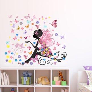 Αυτοκόλλητο τοίχου butterfly Girl