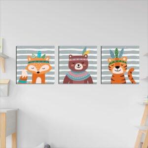 Παιδικοί πίνακες σε καμβά cute animals no 2