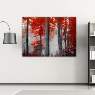 Πίνακας σε καμβά Red Forest No2