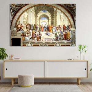 Η σχολή των Αθηνών – αντίγραφο πίνακας σε καμβά