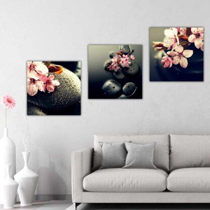 Zen Stones and Flowers πίνακας σε καμβά