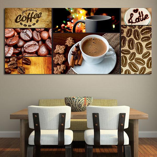 Πίνακας σε καμβά με καφέ σετ Νο1