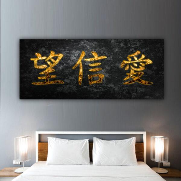 Πανοραμικός πίνακας σε με κινέζικες λέξεις