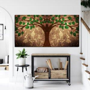 Tree of life πανοραμικός πινακας σε καμβά ( το δέντρο της ζωής )