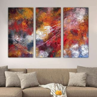 Τρίπτυχος πίνακας σε καμβά Abstract no 4