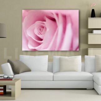 Ροζ τριαντάφυλλο πίνακας σε καμβά
