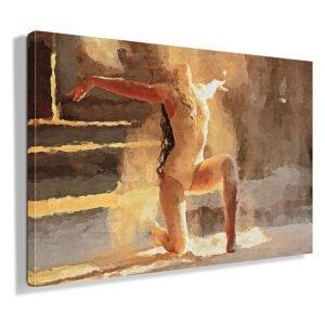 Χορεύτρια πίνακας σε καμβά με εφέ ζωγραφικής