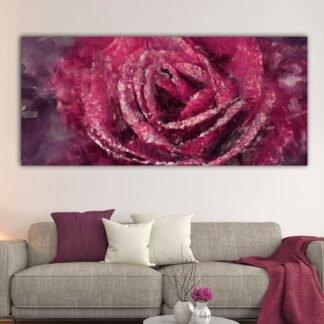 Artistic rose πανοραμικός καμβάς