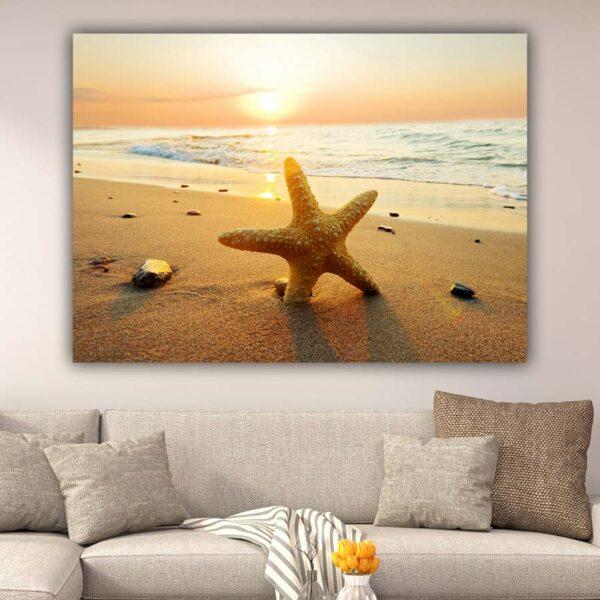 Αστερίας σε ηλιοβασίλεμα πίνακας σε καμβά