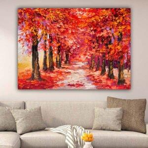 Autumn trees πίνακας σε καμβά (φθινοπωρινά δέντρα)