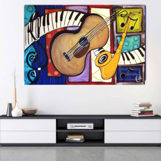 Details about music instruments – Αντίγραφο πίνακας σε καμβά Pablo Picasso