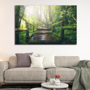 Forest bridge πίνακας σε καμβά
