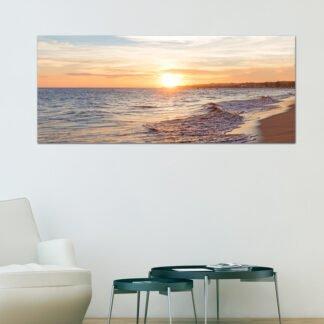 Ηλιοβασίλεμα στην παραλία πίνακας σε καμβά