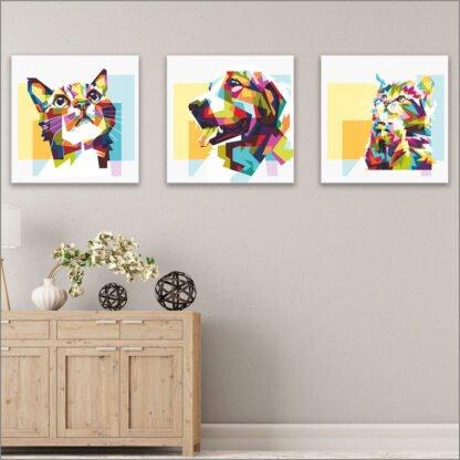 Παιδικοί πίνακες σε καμβά modern animals