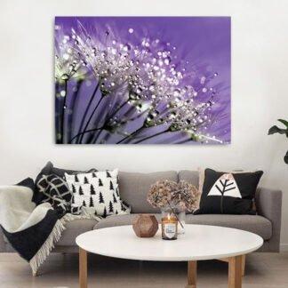Dandelion Μωβ πίνακας σε καμβά