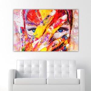 Painted Girl πίνακας σε καμβά