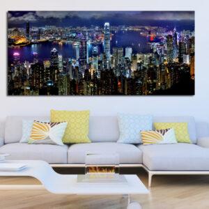 Πανοραμικός πίνακας σε καμβά ουρανοξύστες