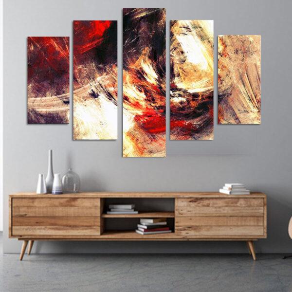 Passion πεντάπτυχος πίνακας σε καμβά