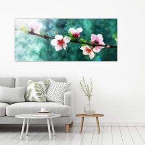 Peach Blossom Watercolor πίνακας σε καμβά
