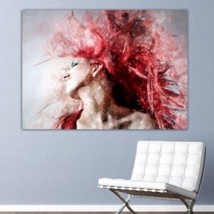 Pink Hair πίνακας σε καμβά