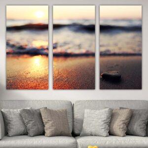 Τρίπτυχος πίνακας σε καμβά Sea and sand