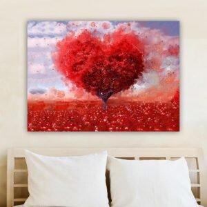 Tree heart πίνακας σε καμβά (δέντρο καρδιά)