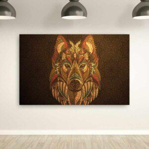 Λύκος-wolf πίνακας σε καμβά