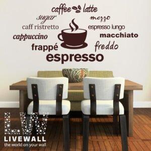 Αυτοκόλλητο τοίχου ώρα για καφέ