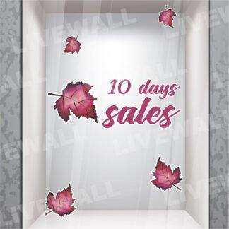 10 days sales αυτοκόλλητα βιτρίνας