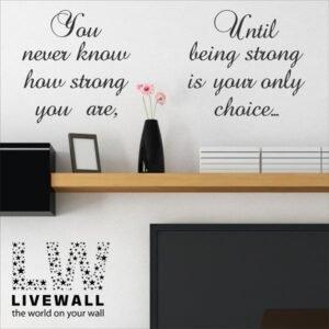 You Never know… αυτοκόλλητα τοίχου φράσεις
