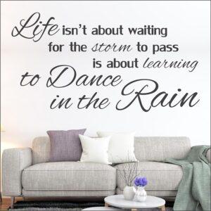 Αυτοκόλλητο τοίχου Dance in the Rain – φράσεις αυτοκόλλητα τοίχου