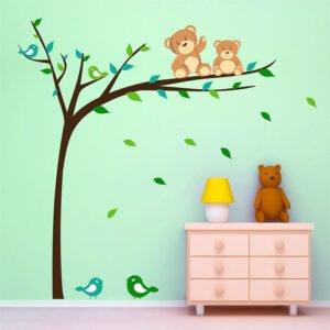 Δέντρο με αρκουδάκια αυτοκόλλητο τοίχου