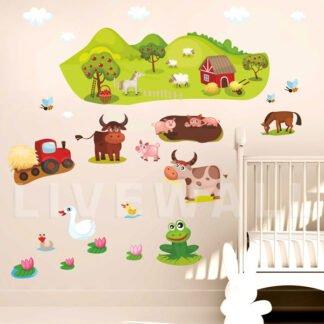 Η φάρμα των ζώων αυτοκόλλητο τοίχου