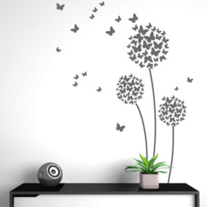 Αυτοκόλλητο τοίχου Butterfly flowers
