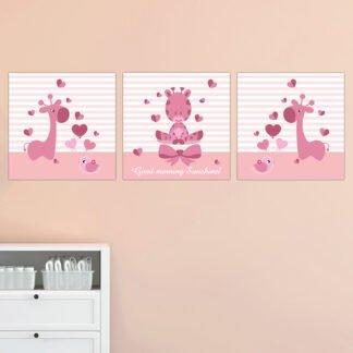 Παιδικοί πίνακες σε καμβά Good Morning Sunshine 3 τεμ 25Χ25 προσφορά!