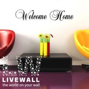 Welcome Home αυτοκόλλητα τοίχου φράσεις