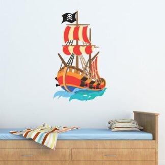 Πειρατικό καράβι Νο 3 αυτοκόλλητο τοίχου