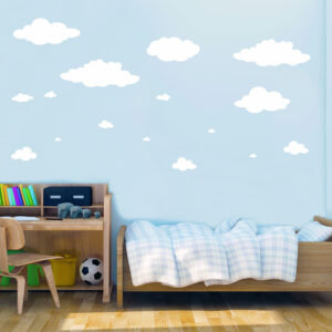 Αυτοκόλλητα τοίχου σύννεφα μεγάλα (σετ 16 Τεμάχια)