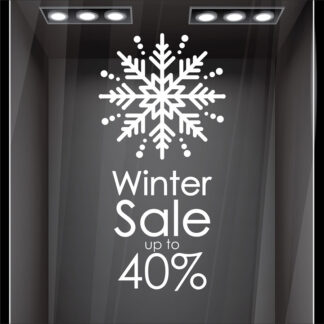 Αυτοκόλλητο βιτρίνας Snowflake Sale no2