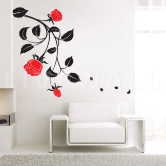 Αυτοκόλλητο τοίχου τριανταφυλλιά