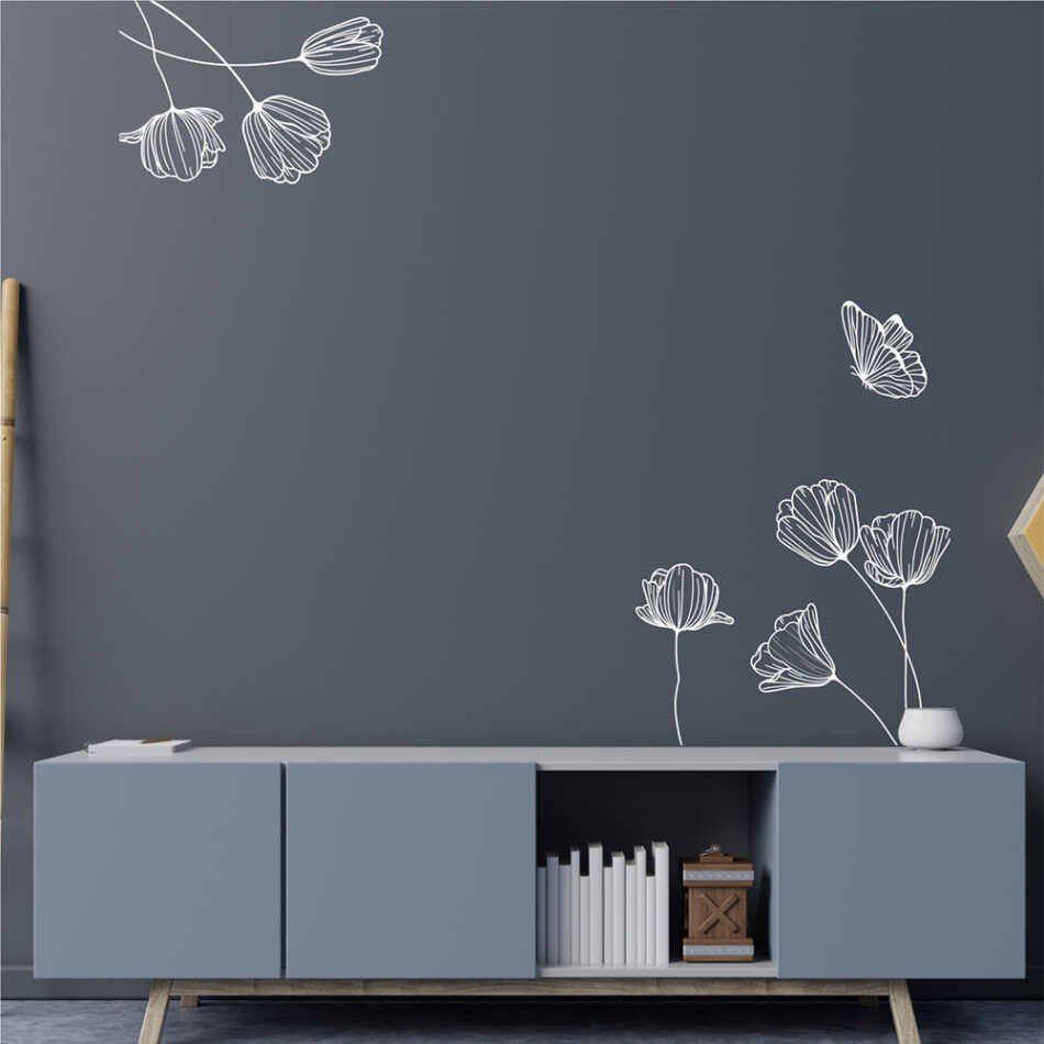 Αυτοκόλλητο τοίχου Elegant Flowers