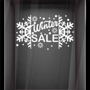 Αυτοκόλλητο βιτρίνας Snowflake Sales no2