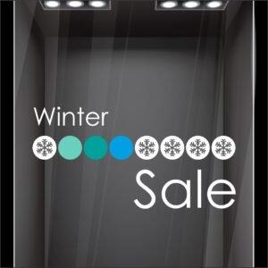 Αυτοκόλλητο βιτρίνας Winter Sale Κύκλοι