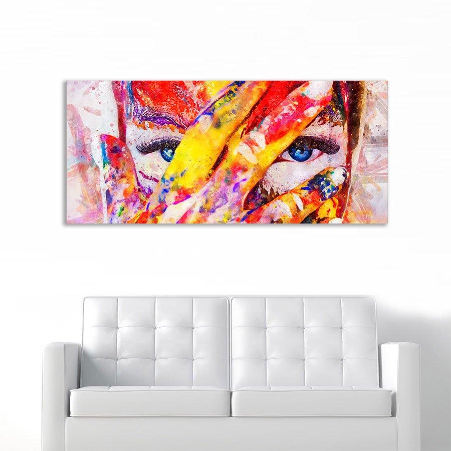 Painted Girl no 2 πανοραμικός πίνακας σε καμβά