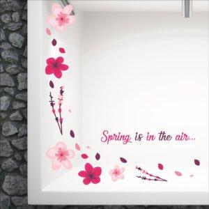Ανοιξιάτικο αυτοκόλλητο βιτρίνας Spring is in the air…