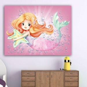 Πίνακας σε καμβά watercolor mermaid