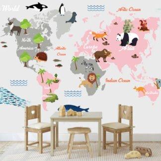 Παιδικη ταπετσαρία ο χάρτης του κόσμου No 7