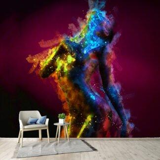 Ταπετσαρία τοίχου Abstract Woman Body ( γυναίκα αφηρημένο )
