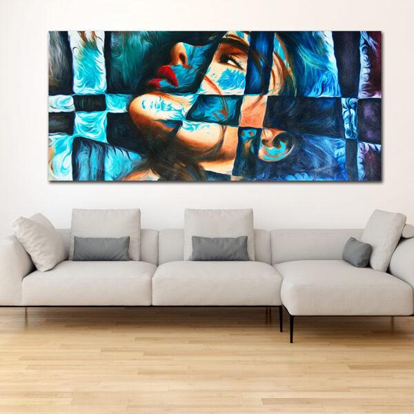 Πανοραμικός πίνακας σε καμβά abstract face